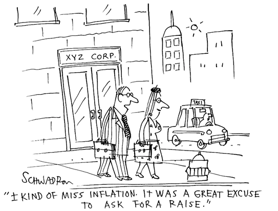 Inflation cartoon graphic